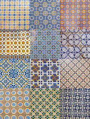 Assorted portuguese glazed tiles