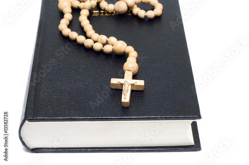 cross on the Holy Bible