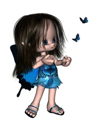 Toon Butterfly Fairy - Blue