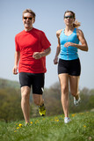 Fototapety enjoying running training