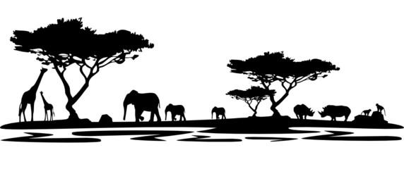 Die Silhouette Afrikas