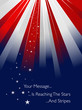 Sunburst in USA style - background with stars and stripes
