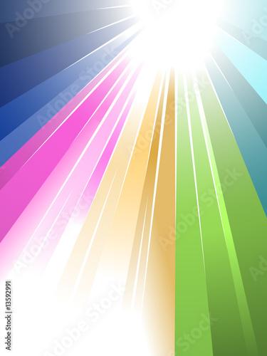 Sunburst in rainbow style reaching your message