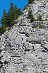 Klettern am Fels in der Schweiz