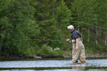 Flyfishing action