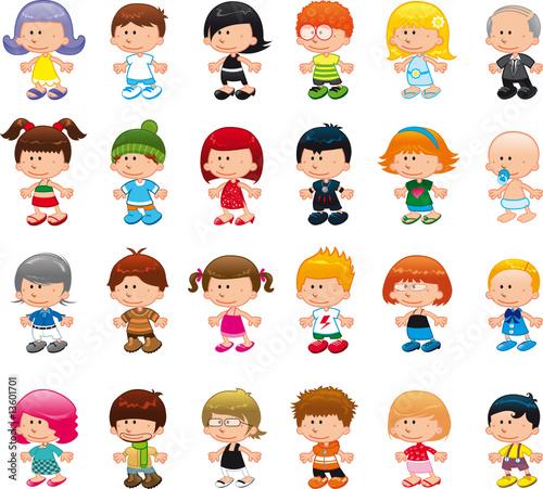 Симпатичные векторные мультяшные персонажи