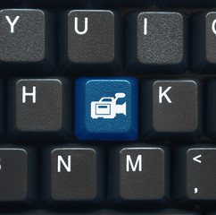 """Video"" key on keyboard (blue)"