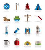 Tourism and Holiday Vector Icon Set poster