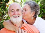 Senior Couple - Affectionate Kiss poster