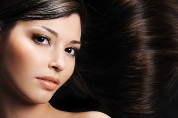 Woman with beauty hairs