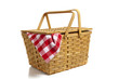 canvas print picture - Picnic Basket with Gingham