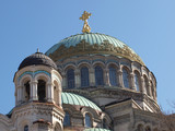 Dome over the Cathedral St. John Kronstadt poster