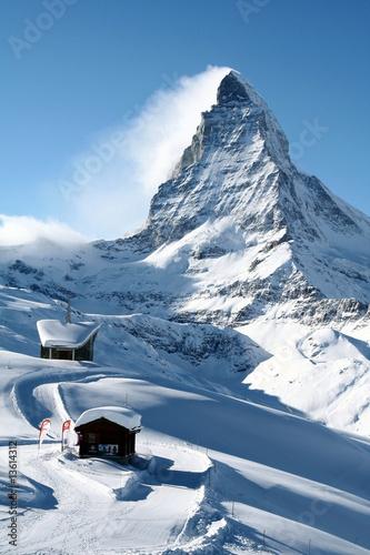 Leinwandbild Motiv Matterhorn in Winter