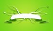 Bannière écologie vierge fond vert