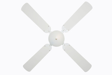 Ceiling fan isolated on white