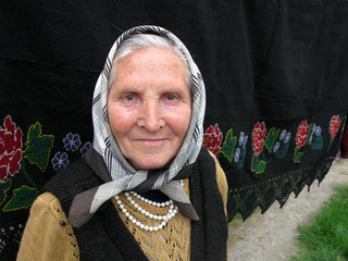 Old woman from Balkans