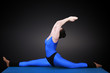 Yoga, Spagat gebeugt nach hinten