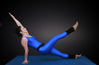 Yoga, diagonale schiefe Ebene