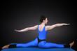 Yoga Spagat rückansicht