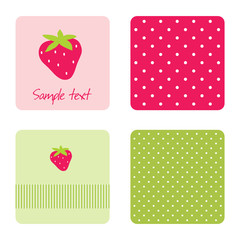 Strawberry backgrounds