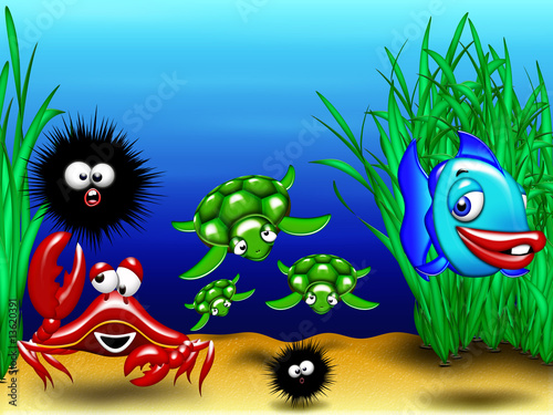 Animali Mare-Sea Animals-Animaux Mer 2