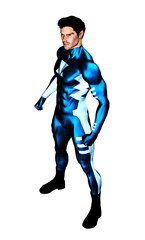 Male Superhero standing