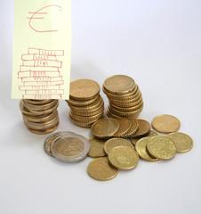 Moedas-Euros-Economy-Économie-Money - Banco-Coin-Cash