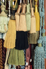 decorative tassel used at manufacturing of curtains