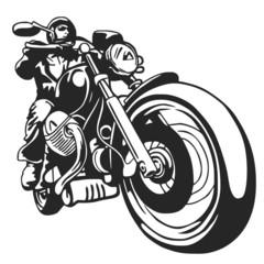 motociclista vector