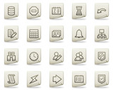Database web icons, document series poster