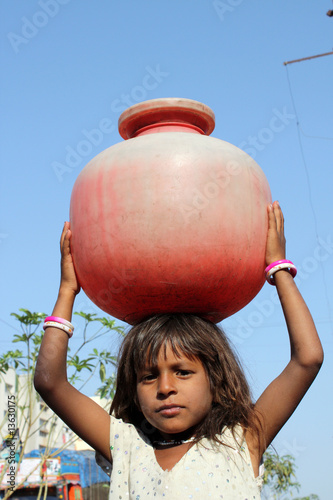 Girl Getting Water