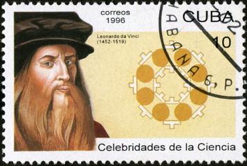 Cuba. Correos 1996. Léonard de Vinci. Timbre postal