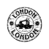 Fototapety London grunge rubber stamp