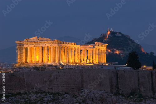 Tuinposter Athene Parthenon at Twilight