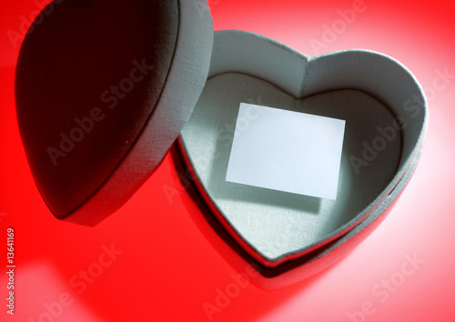 canvas print picture heart shaped gift box