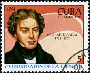 Cuba. Michael Faraday. Correos. 1994. Timbre postal.