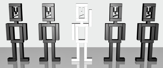 Figur schwarz weiß hervorheben