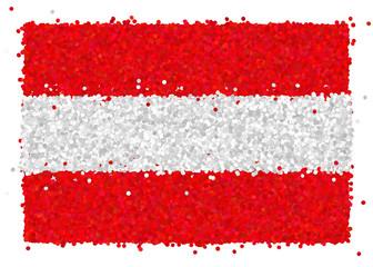 Bandiera dell'Austria di coriandoli