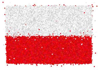Bandiera della Polonia di coriandoli