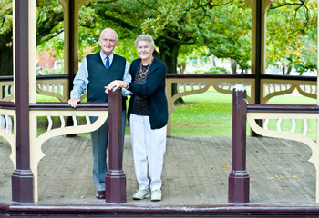 Senior Couple in their Eighties at Public Rotunda