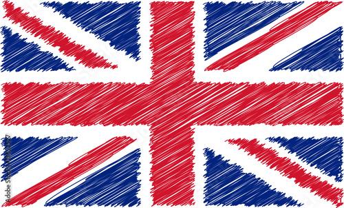 Papier peint drapeau anglais gribouill drapeau - Dessiner le drapeau anglais ...
