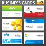 Fototapety Business card set.