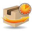 Time delivery icon