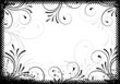 grungy background frame with ornaments