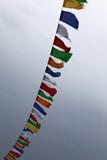 prière religion tibet moine drapeau temple bouddhisme symbole bo poster