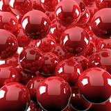 Fototapety red shiny balls