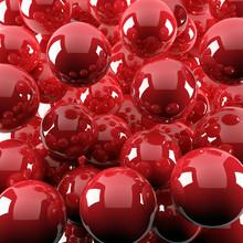 """Постер, картина, фотообои """"red shiny balls"""""""