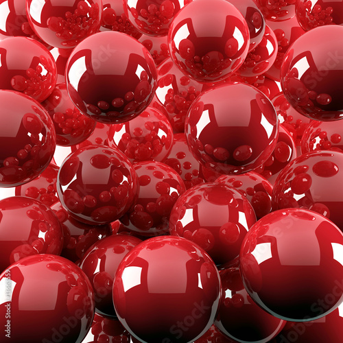 red shiny balls