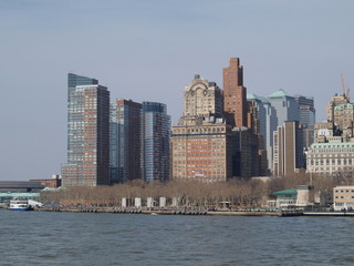 New York Skyline, overlooks Battery Park