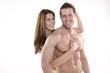 Muskeln Mann und Frau